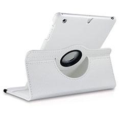 Funda de Cuero Giratoria con Soporte para Apple iPad Mini Blanco