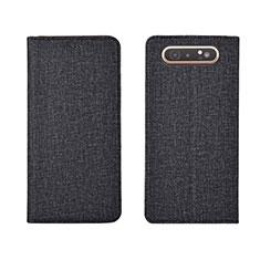 Funda de pano Cartera con Soporte H01 para Samsung Galaxy A80 Negro