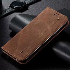 Funda de pano Cartera con Soporte H01 para Samsung Galaxy S20 Ultra 5G Marron