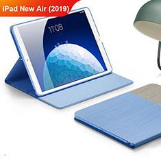 Funda de pano Cartera con Soporte para Apple iPad Air 3 Azul Cielo