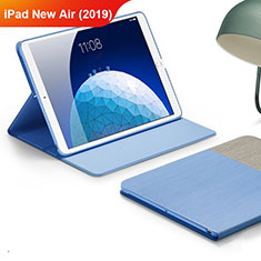 Funda de pano Cartera con Soporte para Apple iPad New Air (2019) 10.5 Azul Cielo