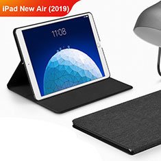 Funda de pano Cartera con Soporte para Apple iPad New Air (2019) 10.5 Negro