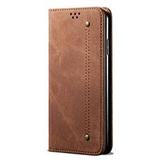 Funda de pano Cartera con Soporte para Huawei Honor 30 Marron