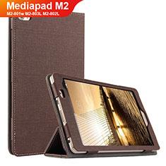 Funda de pano Cartera con Soporte para Huawei Mediapad M2 8 M2-801w M2-803L M2-802L Marron