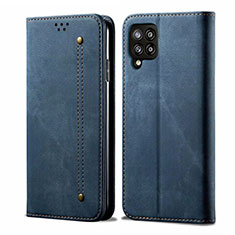 Funda de pano Cartera con Soporte para Samsung Galaxy A42 5G Azul