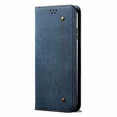 Funda de pano Cartera con Soporte para Samsung Galaxy M31 Azul