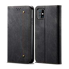 Funda de pano Cartera con Soporte para Samsung Galaxy M31s Negro