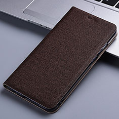 Funda de pano Cartera con Soporte para Samsung Galaxy Note 10 Lite Marron
