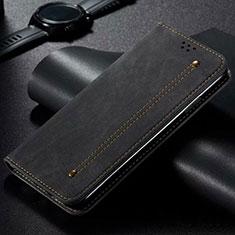 Funda de pano Cartera con Soporte para Xiaomi Mi Note 10 Lite Negro