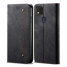 Funda de pano Cartera con Soporte para Xiaomi Redmi 9C Negro