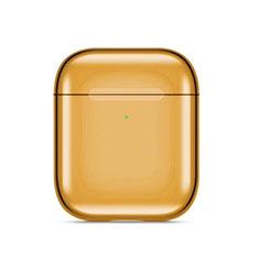 Funda de Silicona con Mosqueton Enchufe para AirPods Carcasa de Carga C07 Oro