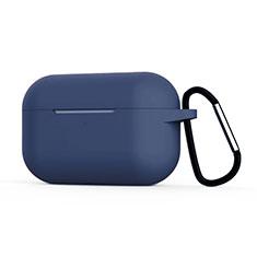 Funda de Silicona con Mosqueton Enchufe para AirPods Pro Carcasa de Carga C02 Azul Real