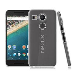 Funda Dura Cristal Plastico Rigida Transparente para Google Nexus 5X Claro