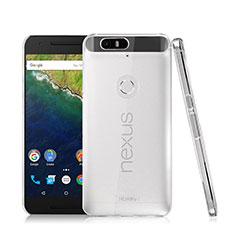 Funda Dura Cristal Plastico Rigida Transparente para Google Nexus 6P Claro
