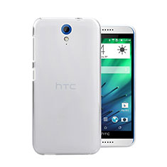 Funda Dura Cristal Plastico Rigida Transparente para HTC Desire 620 Blanco