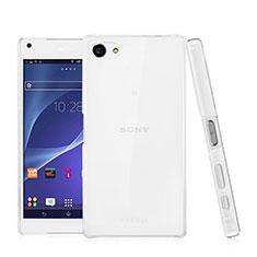 Funda Dura Cristal Plastico Rigida Transparente para Sony Xperia Z5 Compact Claro