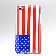 Funda Dura Plastico Rigida Bandera de USA para Apple iPod Touch 4 Vistoso