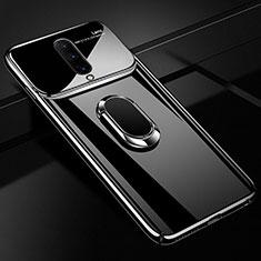 Funda Dura Plastico Rigida Carcasa Espejo 360 Grados con Magnetico Anillo de dedo Soporte para OnePlus 7 Pro Negro