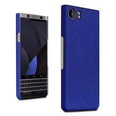 Funda Dura Plastico Rigida Carcasa Fino Arenisca para Blackberry KEYone Azul
