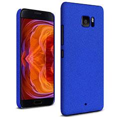 Funda Dura Plastico Rigida Carcasa Fino Arenisca para HTC U Ultra Azul
