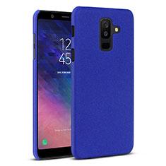 Funda Dura Plastico Rigida Carcasa Fino Arenisca para Samsung Galaxy A6 Plus Azul