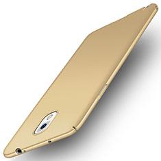 Funda Dura Plastico Rigida Carcasa Fino Arenisca para Samsung Galaxy Note 3 N9000 Oro
