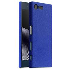 Funda Dura Plastico Rigida Carcasa Fino Arenisca para Sony Xperia X Compact Azul