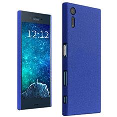 Funda Dura Plastico Rigida Carcasa Fino Arenisca para Sony Xperia XZ Azul