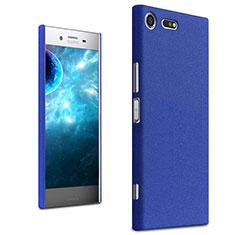 Funda Dura Plastico Rigida Carcasa Fino Arenisca para Sony Xperia XZ Premium Azul