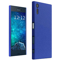 Funda Dura Plastico Rigida Carcasa Fino Arenisca para Sony Xperia XZs Azul