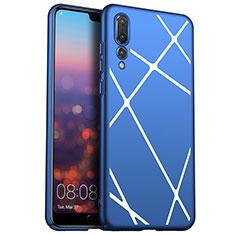 Funda Dura Plastico Rigida Carcasa Line para Huawei P20 Pro Azul