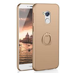 Funda Dura Plastico Rigida Carcasa Mate con Anillo de dedo Soporte A01 para Huawei Honor 6A Oro