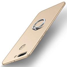 Funda Dura Plastico Rigida Carcasa Mate con Anillo de dedo Soporte A01 para Huawei Honor 8 Pro Oro