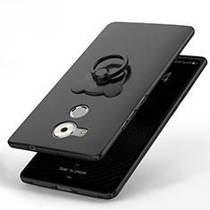 Funda Dura Plastico Rigida Carcasa Mate con Anillo de dedo Soporte A01 para Huawei Mate 8 Negro