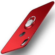 Funda Dura Plastico Rigida Carcasa Mate con Anillo de dedo Soporte A01 para Huawei Nova 3 Rojo