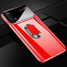 Funda Dura Plastico Rigida Carcasa Mate con Magnetico Anillo de dedo Soporte A01 para Realme X3 SuperZoom Rojo