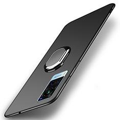 Funda Dura Plastico Rigida Carcasa Mate con Magnetico Anillo de dedo Soporte A01 para Vivo X60 5G Negro