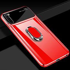 Funda Dura Plastico Rigida Carcasa Mate con Magnetico Anillo de dedo Soporte P03 para Xiaomi Redmi Note 8 Rojo