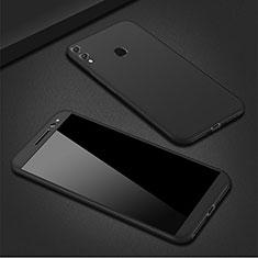 Funda Dura Plastico Rigida Carcasa Mate Frontal y Trasera 360 Grados M01 para Huawei P Smart (2019) Negro