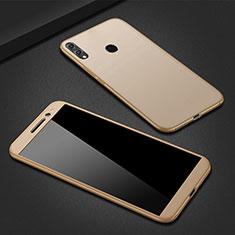 Funda Dura Plastico Rigida Carcasa Mate Frontal y Trasera 360 Grados M01 para Huawei P Smart (2019) Oro