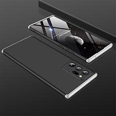 Funda Dura Plastico Rigida Carcasa Mate Frontal y Trasera 360 Grados M01 para Samsung Galaxy Note 20 Ultra 5G Plata y Negro