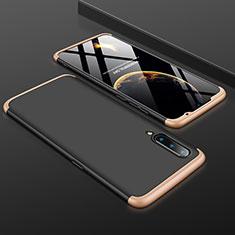 Funda Dura Plastico Rigida Carcasa Mate Frontal y Trasera 360 Grados M01 para Xiaomi Mi 9 Pro Oro y Negro