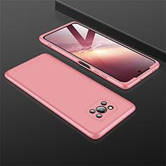 Funda Dura Plastico Rigida Carcasa Mate Frontal y Trasera 360 Grados M01 para Xiaomi Poco X3 NFC Oro Rosa