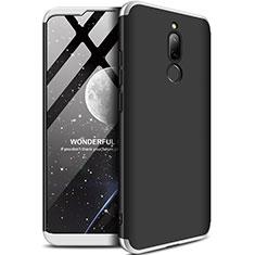 Funda Dura Plastico Rigida Carcasa Mate Frontal y Trasera 360 Grados M01 para Xiaomi Redmi 8 Plata y Negro