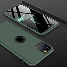 Funda Dura Plastico Rigida Carcasa Mate Frontal y Trasera 360 Grados P01 para Apple iPhone 11 Pro Max Verde