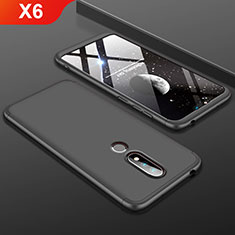 Funda Dura Plastico Rigida Carcasa Mate Frontal y Trasera 360 Grados P01 para Nokia X6 Negro