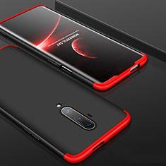 Funda Dura Plastico Rigida Carcasa Mate Frontal y Trasera 360 Grados P01 para OnePlus 7T Pro Rojo y Negro