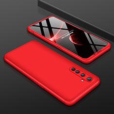 Funda Dura Plastico Rigida Carcasa Mate Frontal y Trasera 360 Grados P01 para Realme X50 Pro 5G Rojo