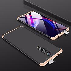 Funda Dura Plastico Rigida Carcasa Mate Frontal y Trasera 360 Grados P01 para Xiaomi Mi 9T Pro Oro y Negro
