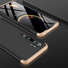 Funda Dura Plastico Rigida Carcasa Mate Frontal y Trasera 360 Grados P01 para Xiaomi Mi Note 10 Pro Oro y Negro